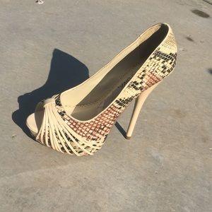 Wild Diva high heels snake print